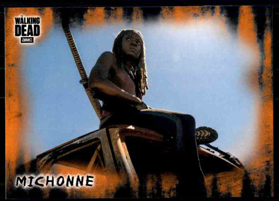 2018 Topps The Walking Dead Hunters Hunted RUST Parallel #7  Michonne
