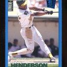 1995 Upper Deck Collectors Choice Blue Parallel Rickey Henderson #48 Baseball