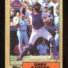 1987 Topps Baseball  #20  Gary Carter