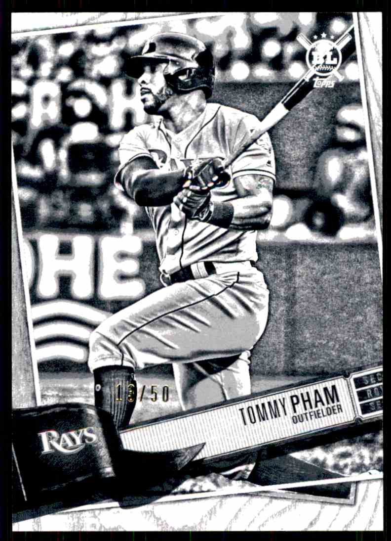 2019 Topps Big League Baseball #203  Tommy Pham  Artist Rendition 13/50