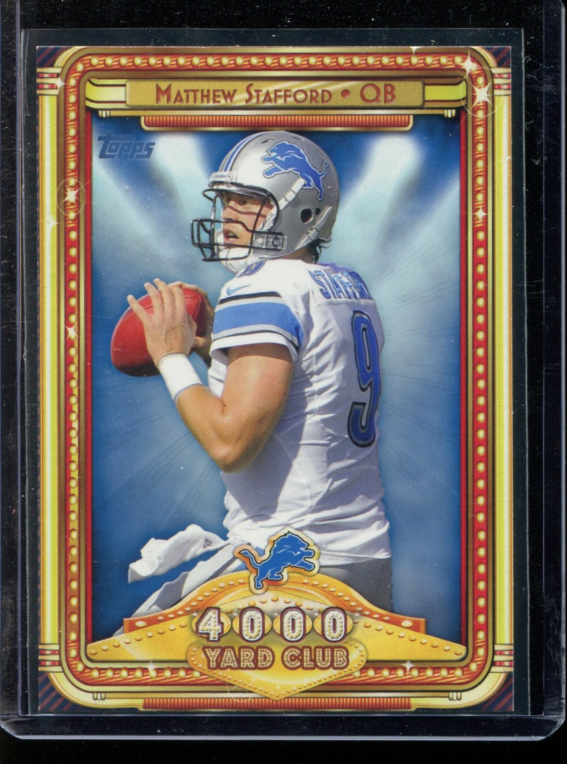 2013 Topps Football  #2  4000 Yard Club  Matthew Stafford