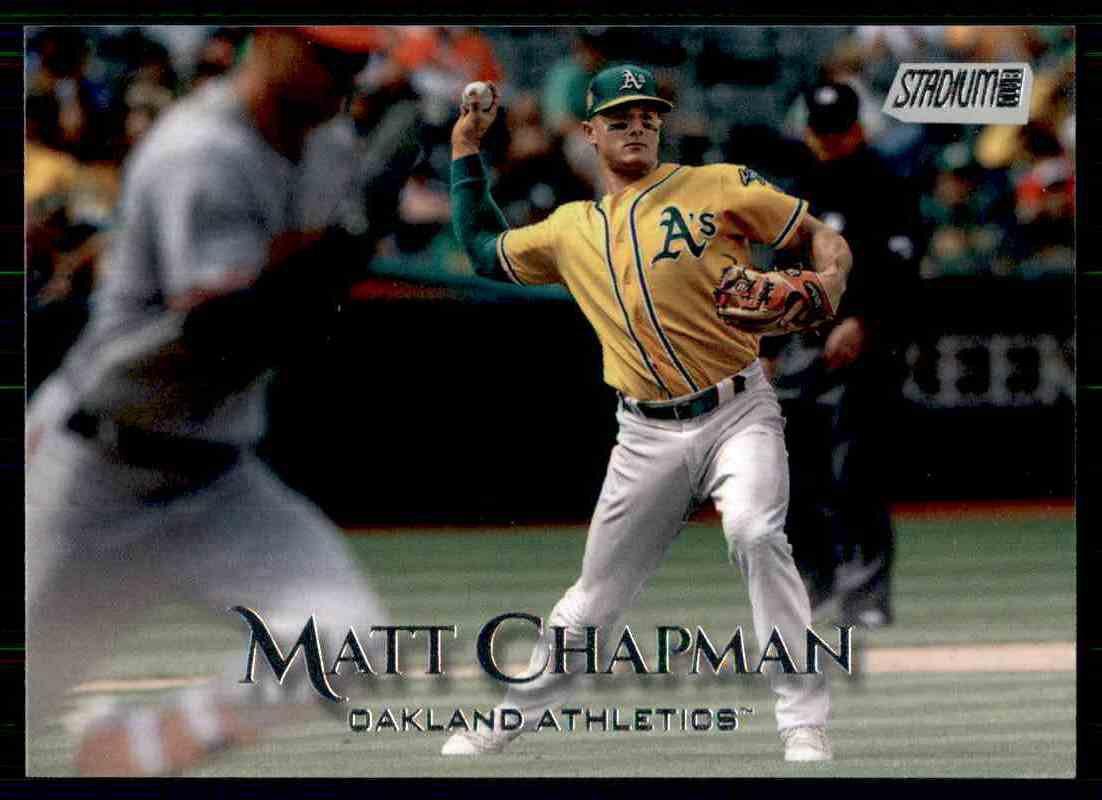 2019 Topps Baseball Stadium Club #164  Matt Chapman