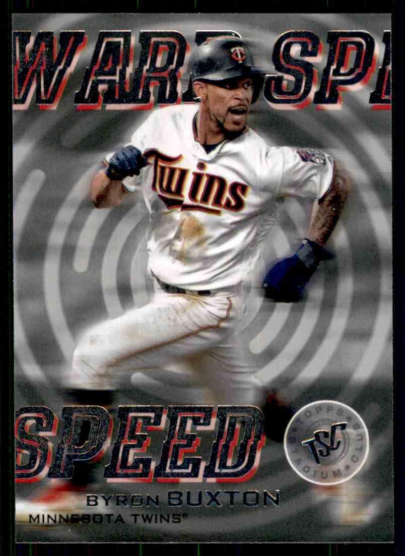 2019 Topps Baseball Stadium Club #WS-15  Byron Buxton  WARP Speed Insert