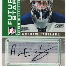2008-09 ITG Between the Pipes Autograph Goaliegraph #A-AE  Andrew Engelage