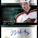 2005-06 Ultimate Collection Rookies Autograph #119  Matt Foy  179/399