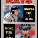 2019 Topps Baseball Heritage #9  Rookie Stars Rays  Brandon Lowe  Michael Perez