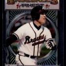 1993 Topps Baseball Finest #1  David Justice  Atlanta Braves