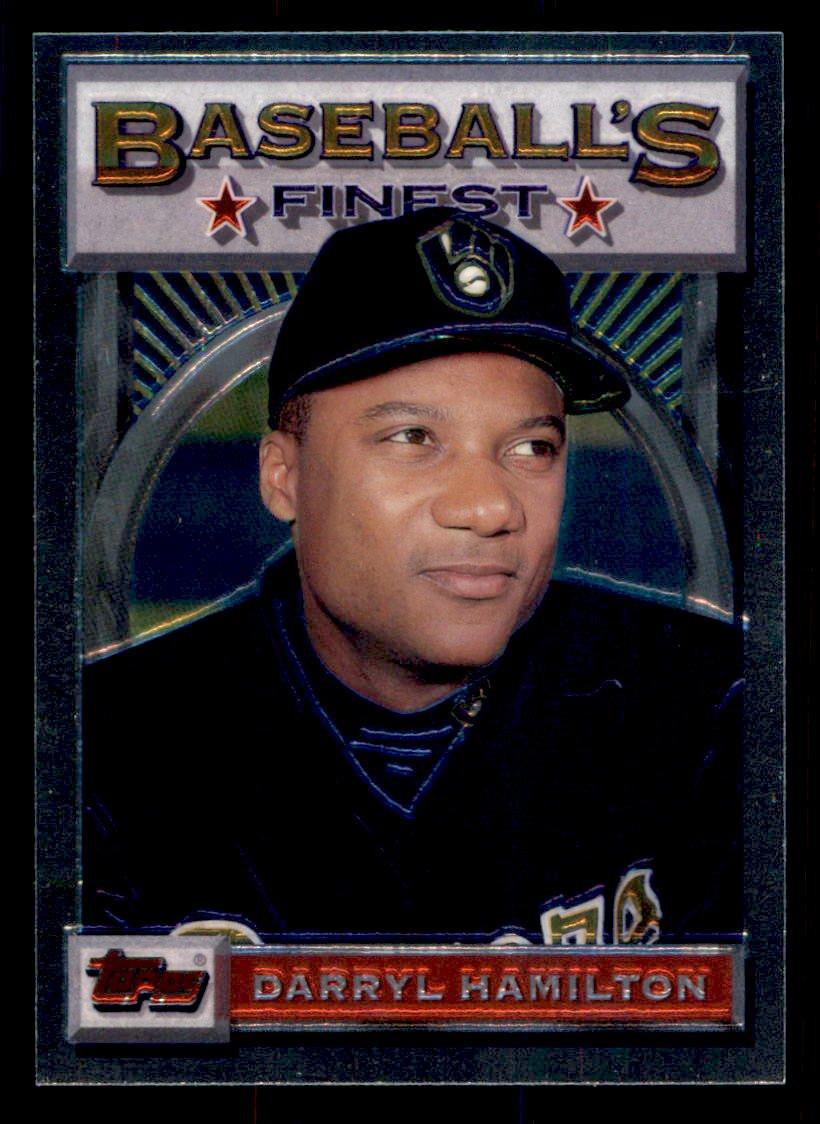 1993 Topps Baseball Finest #45  Darryl Hamilton  Milwaukee Brewers
