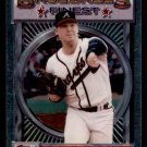 """1993 Topps Baseball Finest #176  Mike Stanton  Atlanta Braves  """"B"""""""