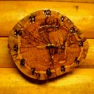 Timber Elk Clock