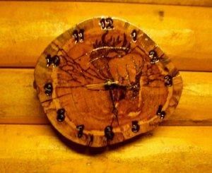 Timber Elk Clock