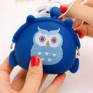 Dark blue owl silicon pouch