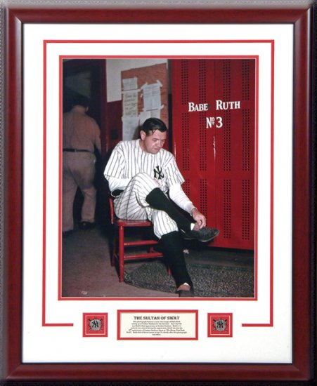 BABE RUTH'S LAST APPEARANCE AS A YANKEE ORIGINAL PHOTOGRAPH