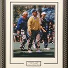TIGER JACK AND ARNIE AT THE MASTERS CUSTOM FRAMED PHOTOGRAPH