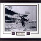 MICKEY MANTLE HITTING SNOWBALLS AT YANKEE STADIUM