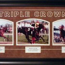 TRIPLE CROWN HORSE RACING CUSTOM FRAMED COLLAGE