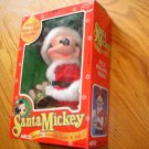 BN-54  Vintage Santa Mickey Fully Poseable Figure NEW IN ORIGINAL BOX Christmas