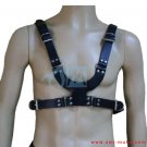 Men's Black Leather Body Chest Harness