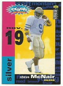 1995  UD Collector Choice  Crash the Game Silver # C10  Steve McNair