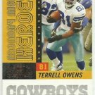 2007 Donruss Classics Monday Night Heroes Insert  # MNH10 Terrell Owens 138/1000