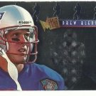 1995   Fleer Metal    Platinum Portraits Insert   # 1   Drew Bledsoe