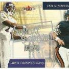 2000  Fleer Metal  Sunday Showdown Insert # 10 Daunte Culpepper/Cade McNown