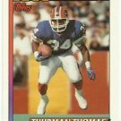 1991   Topps   1000 Yard Club   # 3   Thurman Thomas
