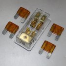 APS FREE 4PCS 40A FUSE MAXI Fuse holder 3 X 4GA IN 2X 8GA OUT GOLD PLATED