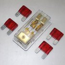 APS FREE 4PCS 50A FUSE MAXI Fuse holder 3 X 4GA IN 2X 8GA OUT GOLD PLATED