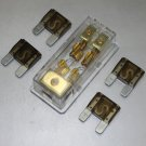 APS FREE 4PCS 70A FUSE MAXI Fuse holder 3 X 4GA IN 2X 8GA OUT GOLD PLATED
