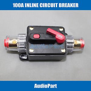 APS US SHIPPING 100A pole 1 Inline Circuit Breaker Fuse for 12V Protection CB04