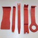 APS 5pcs auto Car Door Trim Panel Molding Clip Retainer Red Remover Pry Tool Kit