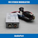 APS FM MODULATOR STEREO RADIO RCA AUX INPUT ADAPTER WIRED 3.5MM RCA TRANSMITTER