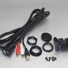 APS Universal Car Dash Mount Installation USB/Aux 2RCA Extension Cable USBAUX-2R