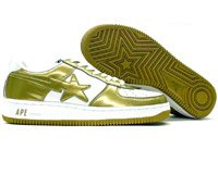 Bapesta Force 1 Low (gold / white)