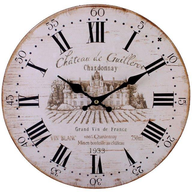 WINE CHARDONNAY wall CLOCK