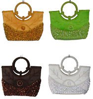 Hand bag or evening and special occasions,blue,silver,copper,green,pink,gold.red