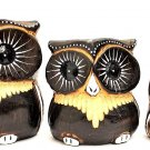 Owl set brown