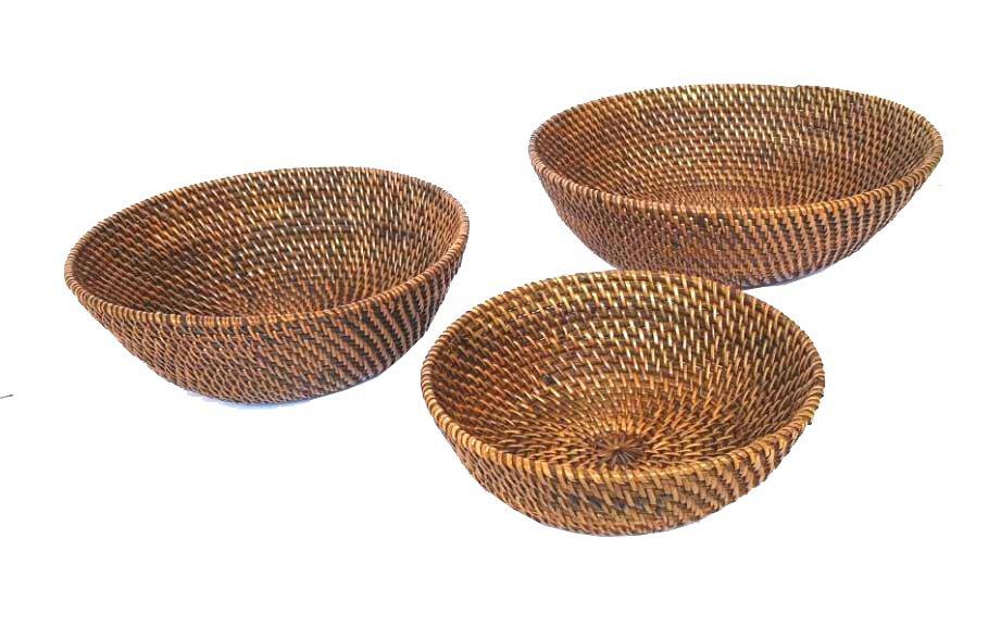 Rattan Bowl Set
