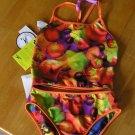 Speedo Swim Suit Swimsuit 2 pc Tankini for Girls Size 14 Reversible and Bonus Free Shipping