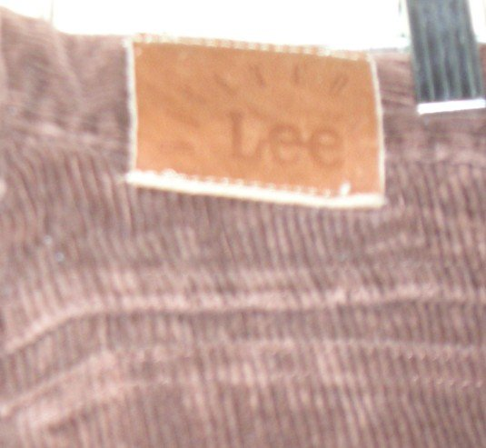 Lee Brand Riveted Corduroy Pants Jeans Womens Brown NEW Size 8 Long