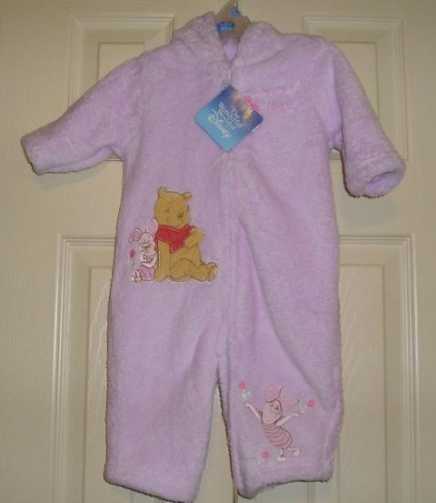 Disney Infant Girls Winnie the POOH Bunting One Piece Full Body OUtfit 3-6 Months