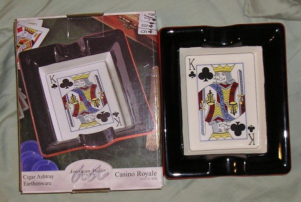 Casino Royale King of Clubs Cigar Ashtray NEW & SALE