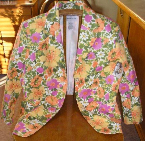 New Jaclyn Smith Career Floral Blazer Jacket Sz. 8 NWT!