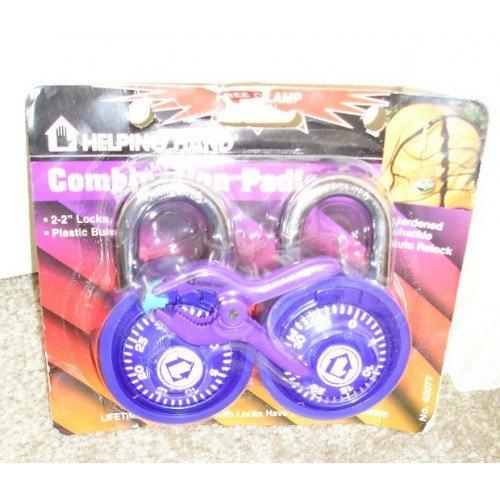 2 Pc. Lot Purple Combination Padlock Padlocks + Bonus! NEW