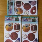 Wall-Art Wall Art Sports Decals Scrapbooking Decorating 3 Packages NEW