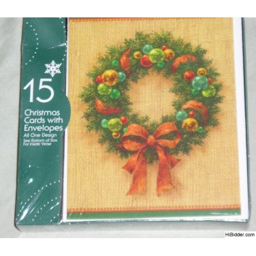 Happy Holiday Christmas Cards - 15 + Envelopes NEW!