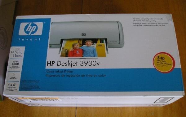 NEW HP Deskjet 3930v Inkjet Printer + Bonus Items!