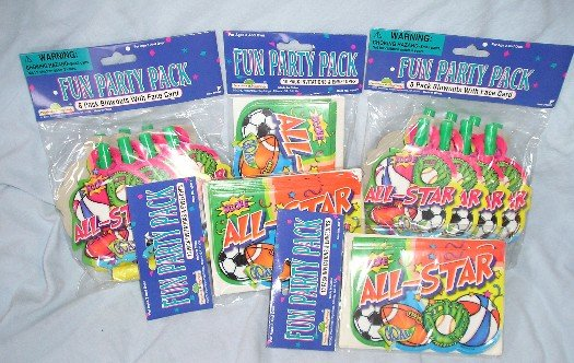 Lot of Party Favors - 30 Invitations + 16 Blowouts NEW !!!!