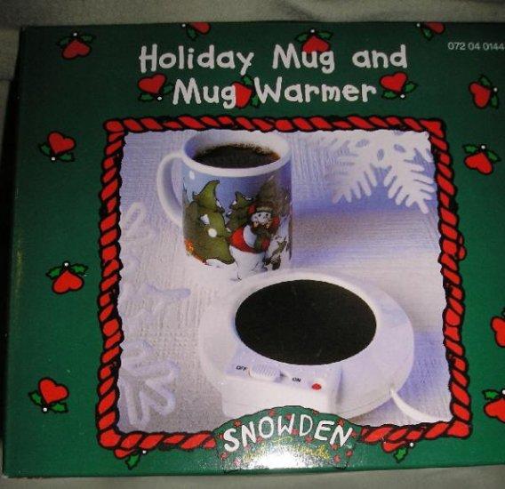 Snowden Raggedy Ann Andy Christmas Mug + Warmer NEW 1998 Old Stock
